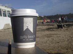 Gylly Beach Cafe Falmouth Falmouth Beach, Falmouth Cornwall, Cafe Logo, Beach Cafe, Cafe Bar, Holiday Destinations, Favorite Holiday, Wonderful Places, Travel Mug