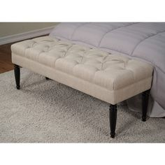 Claudia Diamond Secret Natural Tufted Bench - Overstock™ Shopping - Great Deals on Benches