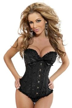 LaceUp  Embroidered Burlesque Corset  $37.99