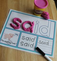 Sight Words Practice Pre Primer Sight Word Activity Mats Sight Word Play Dough Activity Mats Build It Identify It Read It In Context Trace It And Write It Playdough Activities, Sight Word Activities, Classroom Activities, Name Writing Activities, Leadership Activities, Group Activities, Classroom Decor, Teaching Sight Words, Sight Word Practice