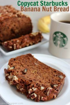 This Copycat Starbucks Banana Nut Bread is going to save you some dollars! If you are a fan of banana bread, this recipe is filled with ripe bananas, walnut