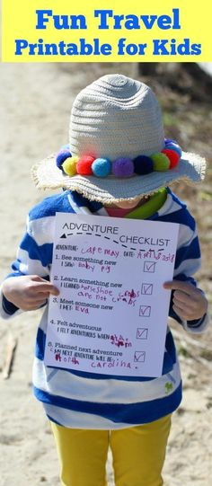 Adventure Checklist: A Fun Free Travel Printable for Kids Click here to download and print! Plus see travel favorites from #BodenbyMe for Kids, adventure checklist, travel checklist, travel scavenger hunt, beach scavenger hunt, beach checklist, beach activity for kids, travel activity for kids, best travel clothes for kids, parkway jacket, best kids swim, Mini Boden, Boden, gingham shoes