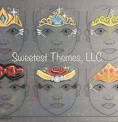 face painting practice board - 10 Face Painting Stencils, Face Painting Designs, Body Painting, Festival Gems, Girls Crown, Face Jewels, Princess Crowns, Painted Boards, Face Paintings