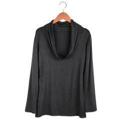 Abody Sexy Fashion Women T-shirt Deep Draped V Neck Long Sleeve Stretch Basic Shirt Slim Tops | Your #1 Source for Beauty Products