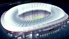 Atlético de Madrid reveló el nombre de su nuevo estadio y modificó su escudo