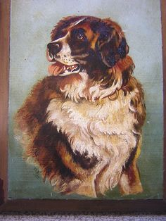 Beautiful 1897 Oil painting of a dog. Reminds me of our own Zelda pooch.