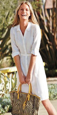 pretty white shirt dress  http://rstyle.me/n/u66phpdpe
