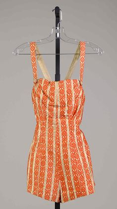Circa 1955 Bathing suit by Carolyn Schnurer, American. Textile by Hollander. Via MMA.
