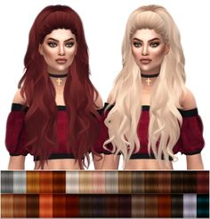 Sims 4 Updates: Kenzar Sims - Hairstyles : Anto Atenea Natural Hair Recolors, Custom Content Download!