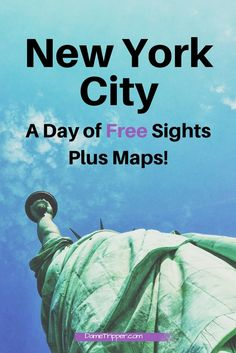 A New York City self guided walking tour, for free! This itinerary gives you an exact route to follow with maps for 8 free sights in the Big Apple. All you need is a good pair of shoes to see highlights like Times Square, The Freedom Tour and the Brooklyn Bridge. Keep this post open on your phone to follow the maps!
