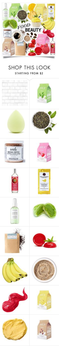 """FOOD BEAUTY 🍌🍓🍃☕"" by iamlaylayyy ❤ liked on Polyvore featuring beauty, Tempaper, Forever 21, Mod Bath and Body, Herbivore, Frank Body, Aromatherapy Associates, Illamasqua, Bobbi Brown Cosmetics and Beauty"