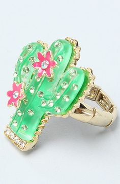 The Cactus Stretch Ring by Betsey Johnson