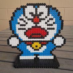 Doraemon hama beads by rainbow_ironed Hama Beads, Fuse Beads, Bead Crafts, Diy And Crafts, Manga Anime, Kawaii Cross Stitch, Bead Kits, Perler Patterns, Pony Beads