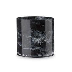 H Skjalm P bloempot zwart marmer 14 cm.