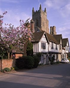 The Little Village of Stoke-by-Nayland, Suffolk, England,  with the 15th century St Mary's Church