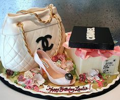 Ok not a cupcake but who can say no to a Chanel cake? not me.