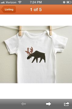 Buy the moose baby bodysuit in all sizes from months, that is perfect for a baby boy or a baby girl who loves playing, sleeping and crawling in a baby one piece. Baby Clothes Sizes, Unisex Baby Clothes, Moose Baby Shower, Baby Shower Gifts, Moose Nursery, Baby Bodysuit, Boy Onesie, Onesies, Gifts For New Moms