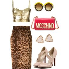 Sexy by valeria-verde on Polyvore featuring polyvore, fashion, style, Moschino, Dolce&Gabbana and Kendra Scott