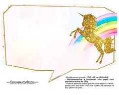 Fiesta de Unicornios: Imprimibles Gratis para Fiestas. Party Printables, Unicorn Printables, Free Printables, Birthday Fun, Birthday Parties, Birthday Stuff, Real Unicorn, Class Decoration, Party Kit