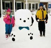#Snow #Puppy #Sculpture  Sculptors: Jim, Jennifer, Nathan (age 12), and Erin (age 8) H.