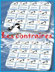 Monsieur Matthew & Cap'tain Eliot: Jeux et ressources de qualité . - pdf of antonyms to be printed out and played in a game (the first student to get right of all cards after forming pairs wins) French Teacher, Teaching French, French Tenses, French Adjectives, French Education, Core French, French Classroom, French Lessons, Group Activities