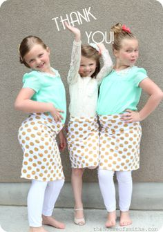 Gold and white polka dotted skirts for cancer fund #dressingforacause #houseofsmiths #childhoodcancer
