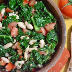 Marinated Kale, White Bean, and Tomato Salad