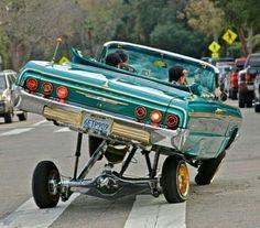 I can make that ass drop. Chevrolet Impala, Chevrolet Chevelle, 64 Impala Lowrider, Arte Lowrider, Lamborghini, Ferrari 458, Cadillac Fleetwood, Old School Cars, Car Memes