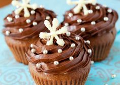 Holiday Desserts: Chocolate Chip Cupcakes with Chocolate Frosting!