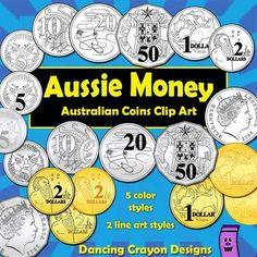 Money: Australian Coins Currency Clip Art