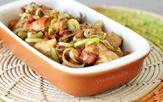 Frango com Alho Poró e Bacon ~ PANELATERAPIA - Blog de Culinária, Gastronomia e Receitas
