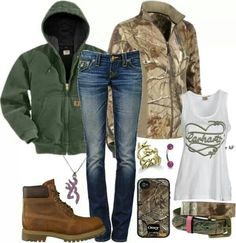 Camo outfit w/ Carhartt and love the antler ring