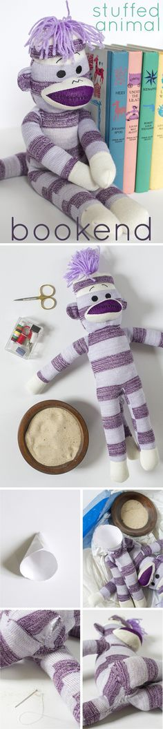 It can be hard to say good-bye to a treasured stuffed animal. Instead of getting rid of them, transform them intoa custom bookend using sand and a needle and thread. Keep your most nostalgic possessions with this very simple trick! http://www.ehow.com/ehow-home/blog/turn-your-favorite-stuffed-animal-into-a-custom-bookend/?utm_source=pinterest.com&utm_medium=referral&utm_content=blog&utm_campaign=fanpage
