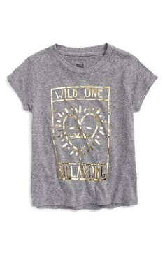 Billabong 'Wild One' Graphic Tee (Big Girls) available at #Nordstrom