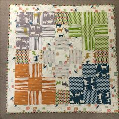 For Archie, a mix of Birch fabrics