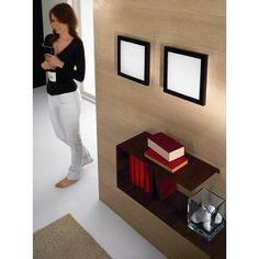 Linea Light Frame One Light Flush Ceiling/Wall Light in Cherry Wood