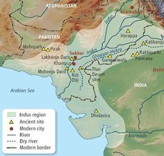 Ancient India - A map of the early Indus Valley