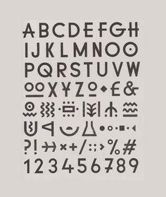 YCN Studio — custom typeface for Green Man Festival identity, including unique symbols for festival areas