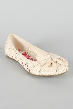Bridesmaid's shoes- I tried them with my dress but they didn't work! I do have my own pair though! Soda Crest-S Crochet Bow Round Toe Ballet Flat