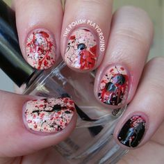 The Vampire Diaries Inspired Nails ❤ liked on Polyvore featuring beauty products, nail care, nail treatments and nails