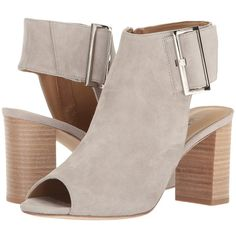 Vaneli Bisa (Dove Suede) High Heels ($149) ❤ liked on Polyvore featuring shoes, boots, ankle booties, high heel ankle boots, faux suede ankle booties, open toe ankle boots, high heel booties and peep toe ankle boots