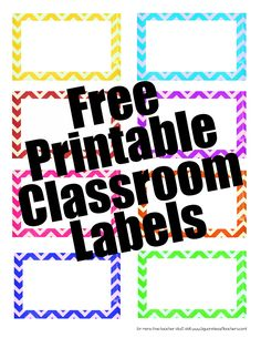 Squarehead Teachers: Free Chevron Supply Labels/Tags for your home or classroom.