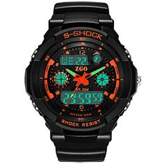 Wrivan Digital Analog Sport Mulfunctional Kid Watch for Boys Stopwatch -- To view further for this item, visit the image link.