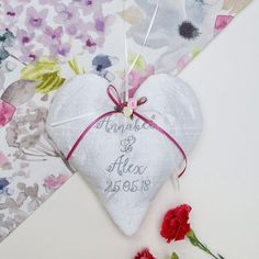 Silk Wedding Heart Floral by Tuppenny House Designs, the perfect gift for Explore more unique gifts in our curated marketplace. Watercolor Effects, Watercolour, Nottingham Lace, Satin Roses, Ivory Silk, Wedding Anniversary Gifts, Special Day, Personalized Gifts, Unique Gifts