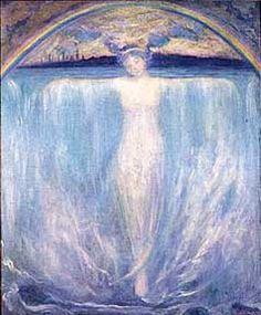 """Evelyn Rumsey Cary, artist from Buffalo, NY. """"The Spirit of Niagara""""...depicting n Indian princess at Niagara Falls"""