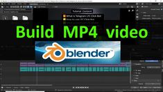 #Tutorial : How to build #mp4 video in #Blender Audio In, Problem Solving, Software, Coding, Tutorials, Building, Youtube, Buildings, Youtubers