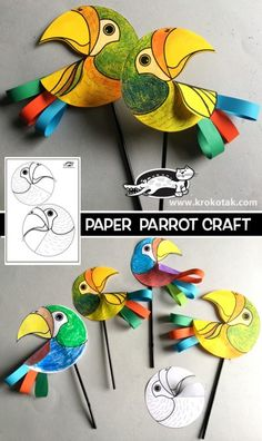 PAPER PARROT CRAFT FOR KIDS Source by Related posts: Colorful Paper Cup Parrot Craft Paper Penguin Craft für Kinder Chick Craft For Kids made out of paper hearts art project Paper Heart Penguin Craft Für Kinder craft heart animal art proje … Paper Crafts For Kids, Preschool Crafts, Paper Crafting, Fun Crafts, Arts And Crafts, Bird Paper Craft, Parrot Craft, Diy Niños Manualidades, Toddler Art Projects