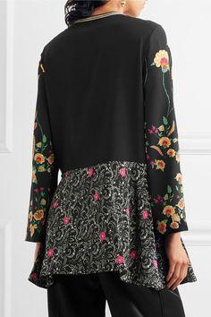 Etro - Floral-print Silk Crepe De Chine Blouse - Black - IT48