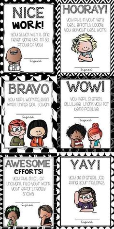 Teach a growth mindset at any grade level using student recognition cards!