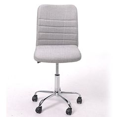 buy greenforest office desk task chair ergonomic mid back armless adjustable chair with fabric upholstery silver home office desk chairs free amazon home office furniture